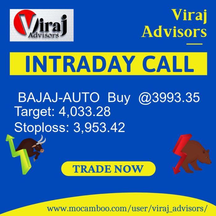 Live  BAJAJ-AUTO  Buy  @3993.35    Trading Call