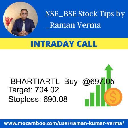 Live  BHARTIARTL  Buy  @697.05    Trading Call