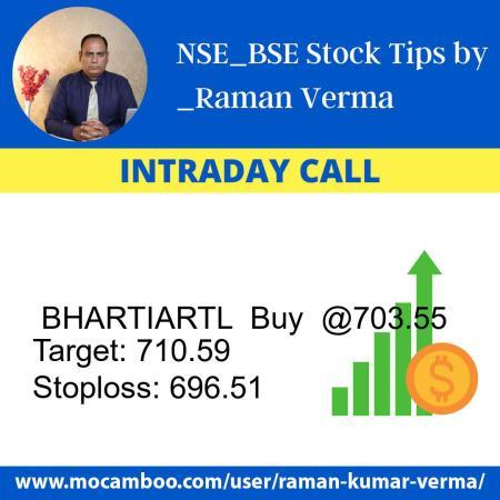Live  BHARTIARTL  Buy  @703.55    Trading Call