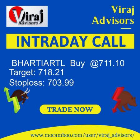 Live  BHARTIARTL  Buy  @711.10    Trading Call