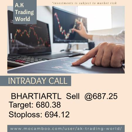 Live  BHARTIARTL  Sell  @687.25    Trading Call