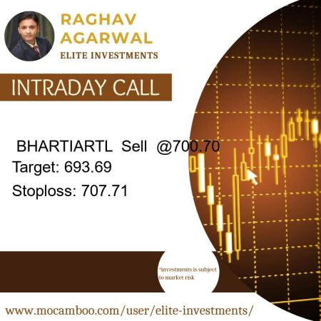 Live  BHARTIARTL  Sell  @700.70    Trading Call