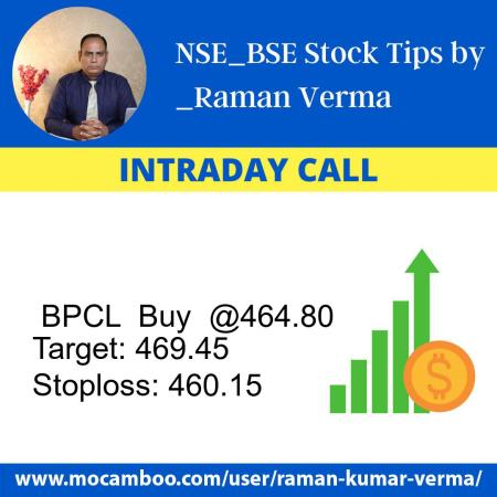 Live  BPCL  Buy  @464.80    Trading Call