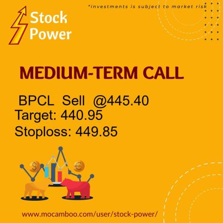 Live  BPCL  Sell  @445.40    Trading Call