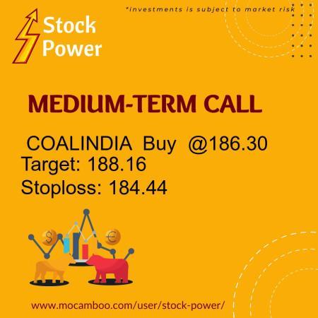 Live  COALINDIA  Buy  @186.30    Trading Call