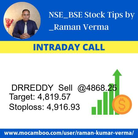 Live  DRREDDY  Sell  @4868.25    Trading Call