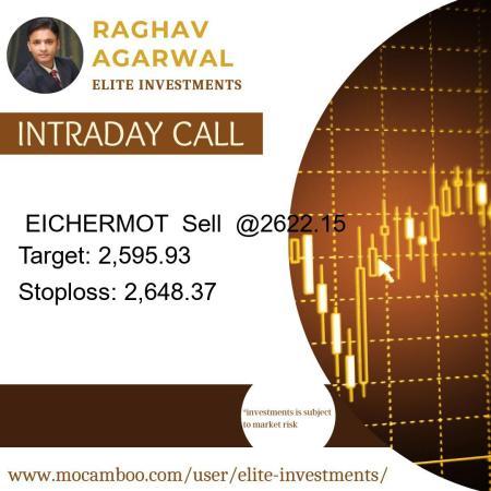 Live  EICHERMOT  Sell  @2622.15    Trading Call