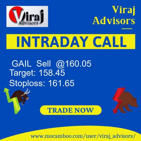 Live  GAIL  Sell  @160.05    Trading Call