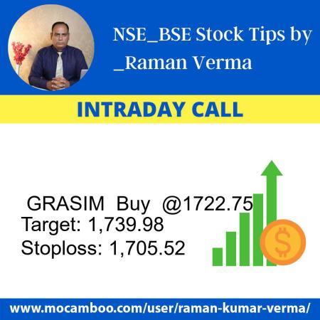 Live  GRASIM  Buy  @1722.75    Trading Call