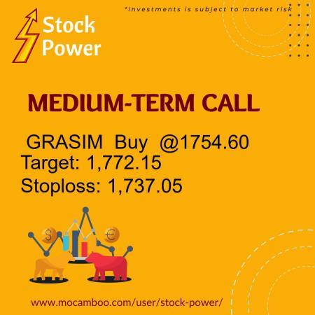 Live  GRASIM  Buy  @1754.60    Trading Call