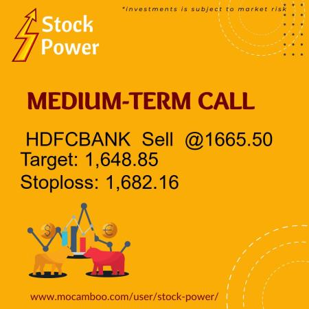 Live  HDFCBANK  Sell  @1665.50    Trading Call