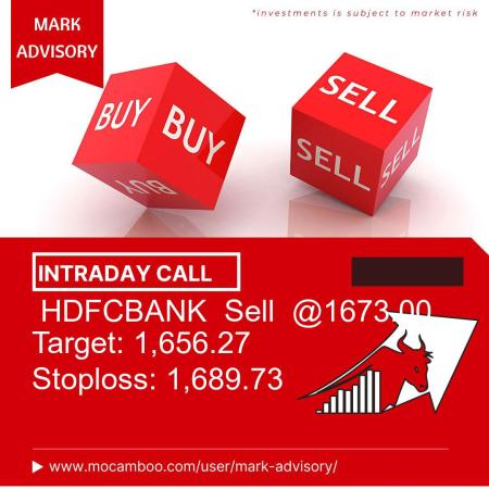 Live  HDFCBANK  Sell  @1673.00    Trading Call