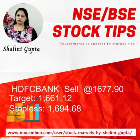 Live  HDFCBANK  Sell  @1677.90    Trading Call
