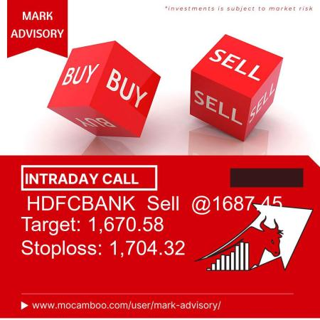 Live  HDFCBANK  Sell  @1687.45    Trading Call