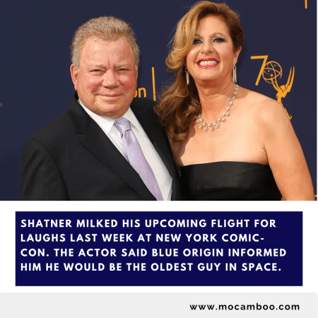 Shatner milked his upcoming flight for laughs last week at New York Comic-Con. The actor said Bl ...