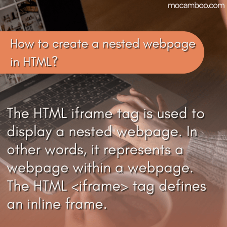 How to create a nested webpage in HTML?