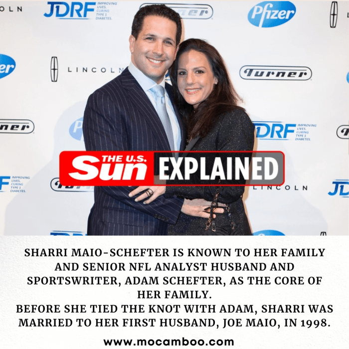 SHARRI Maio-Schefter is known to her family and senior NFL analyst husband and sportswriter, Ada ...