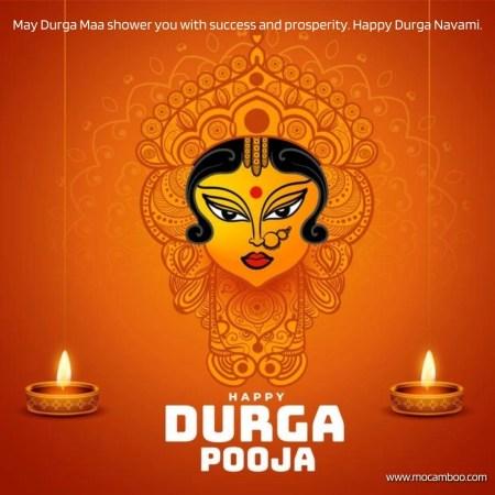 May Durga Maa shower you with success and prosperity. Happy Durga Navami.