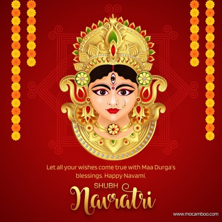 Let all your wishes come true with Maa Durga's blessings. Happy Navami.