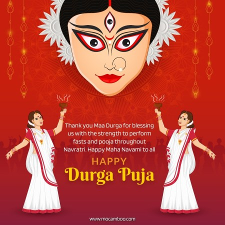 Thank you Maa Durga for blessing us with the strength to perform fasts and pooja throughout Navr ...
