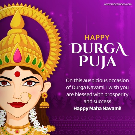 On this auspicious occasion of Durga Navami, I wish you are blessed with prosperity and success  ...