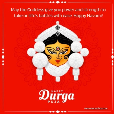 May the Goddess give you power and strength to take on life's battles with ease. Happy Navami!