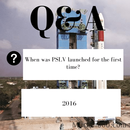 When was PSLV launched for the first time?
