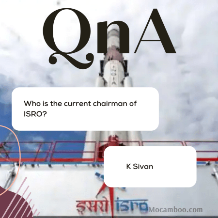 Who is the current chairman of ISRO?