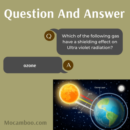 Which of the following gas have a shielding effect on Ultra violet radiation?