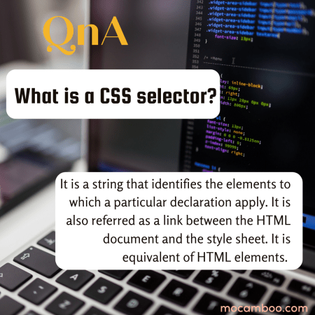 What is a CSS selector?