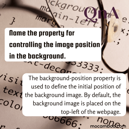 Name the property for controlling the image scroll in the background.