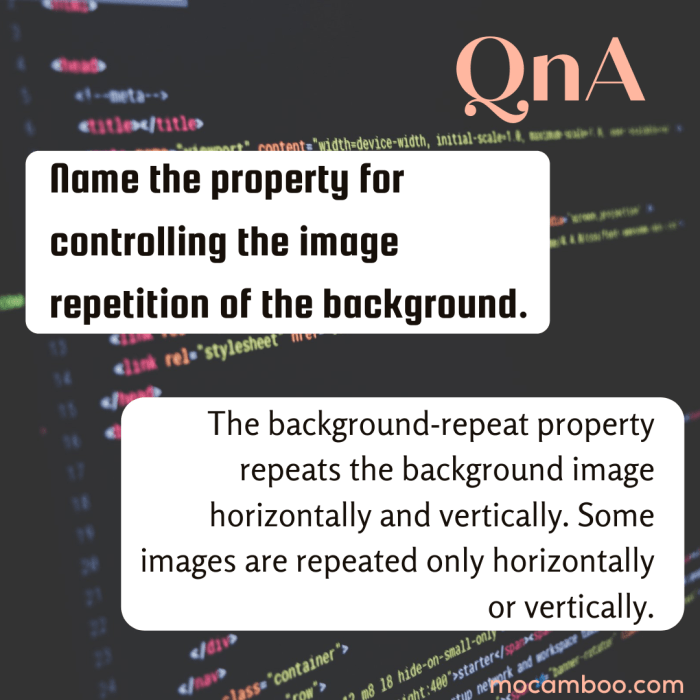 Name the property for controlling the image repetition of the background.