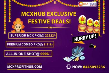 MCX FESTIVAL OFFER TO JOIN MCX PROFITHUB OR GET FREE TRIAL CALL @8445092236