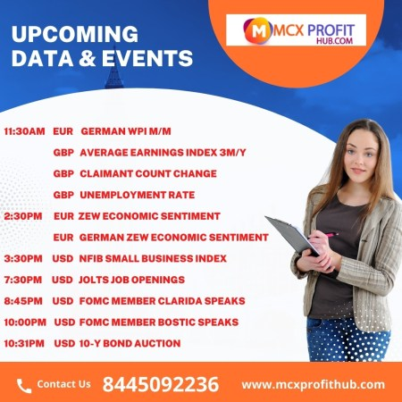 UPCOMING DATA'S AND EVENT UPDATE BY MCX PROFITHUB OR GET FREE TRIAL CALL @8445092236
