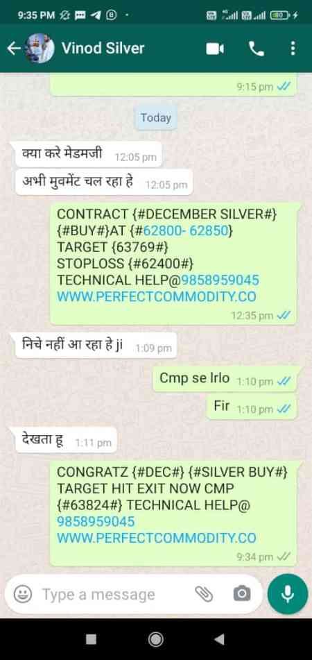 SILVER BUY TARGET HIT UPDATED BY PERFECTCOMMODITY.CO CONTACT WITH US 8266945222