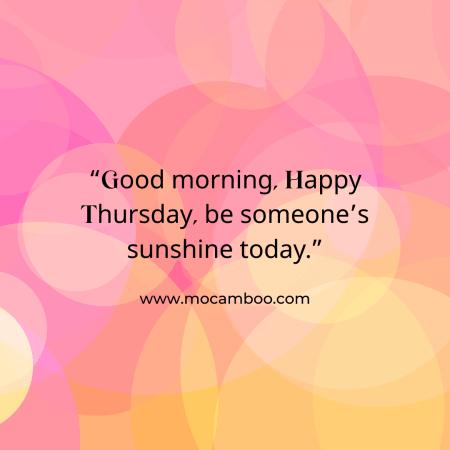 Good Morning Thursday……