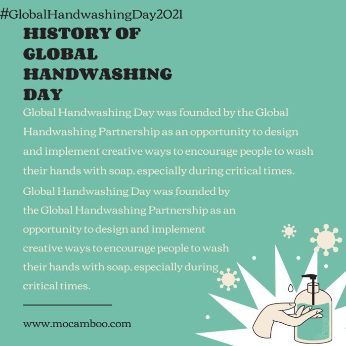 HISTORY OF GLOBAL HANDWASHING DAY