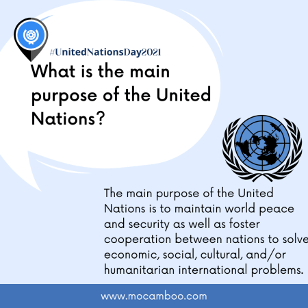 What is the main purpose of the United Nations?