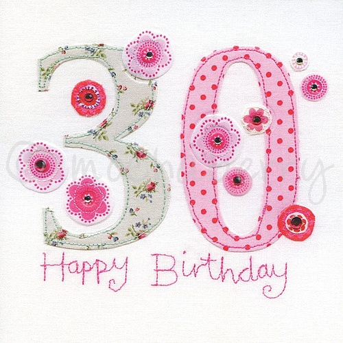30th Birthday Cards 30th Greeting Card Thirtieth