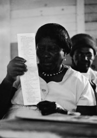 black woman voting