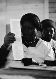 black woman voting