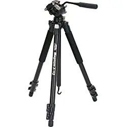 Davis and Sanford photography tripod on black background
