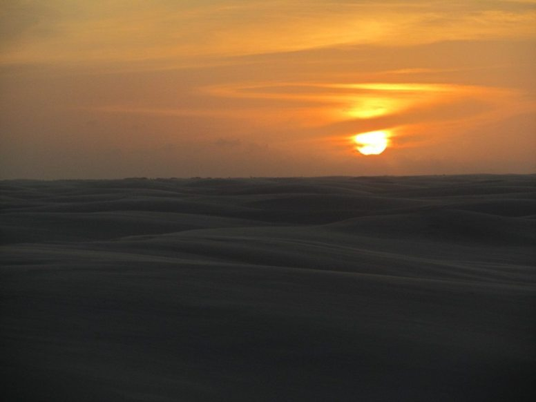 Lençóis Maranhenses - Circuito Lagoa Bonita - pôr do sol