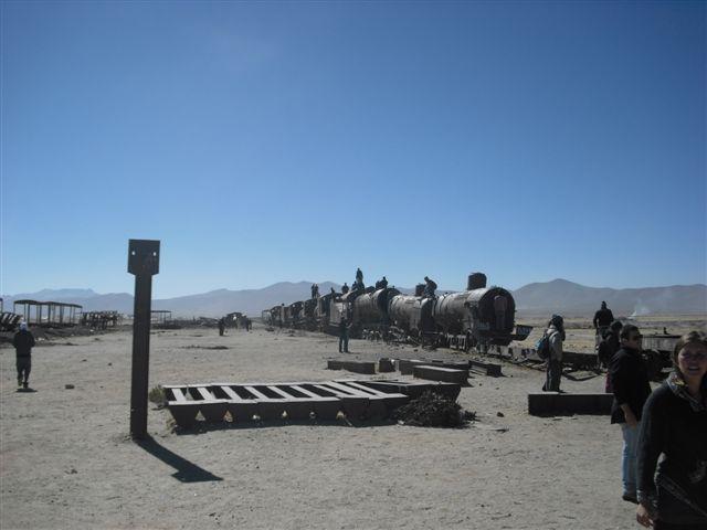 Cemitério de trens em Uyuni - Bolívia