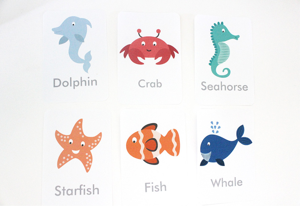 Free Printable Under The Sea Flash Cards