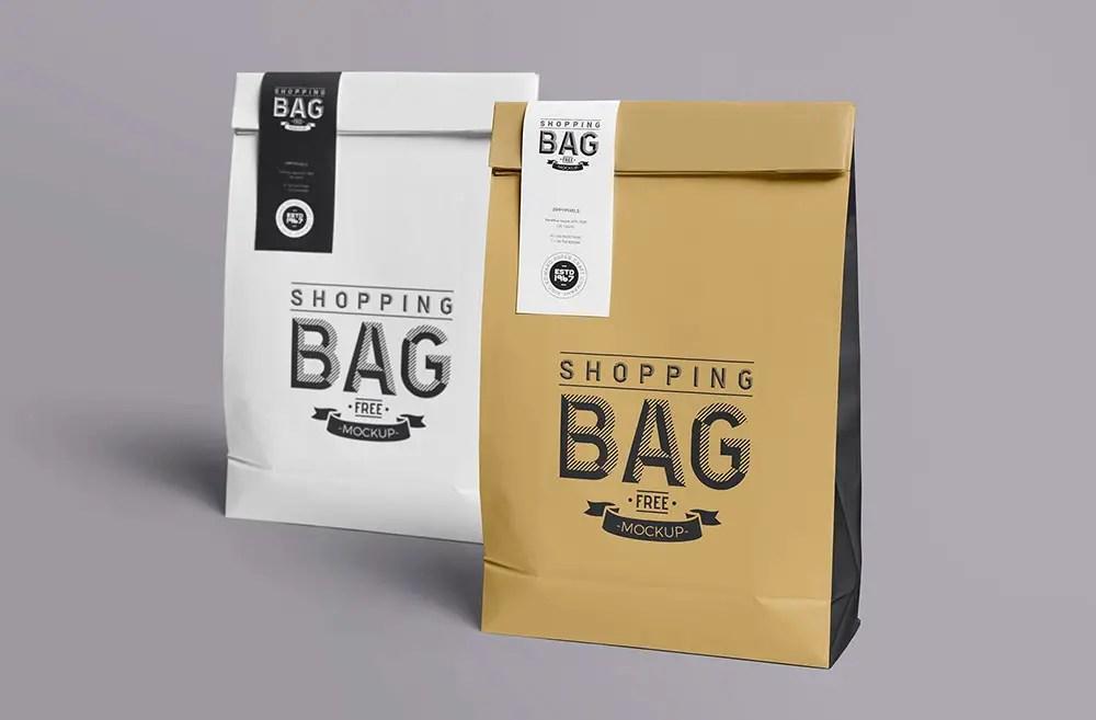 Download Paper Bag Mockup Free Branding Collection | Mockup+
