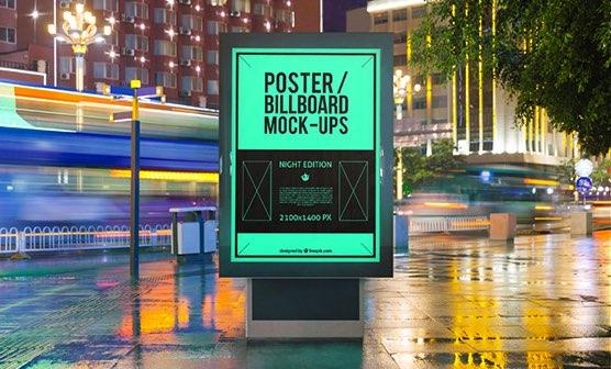 10 urban poster and billboard mockups