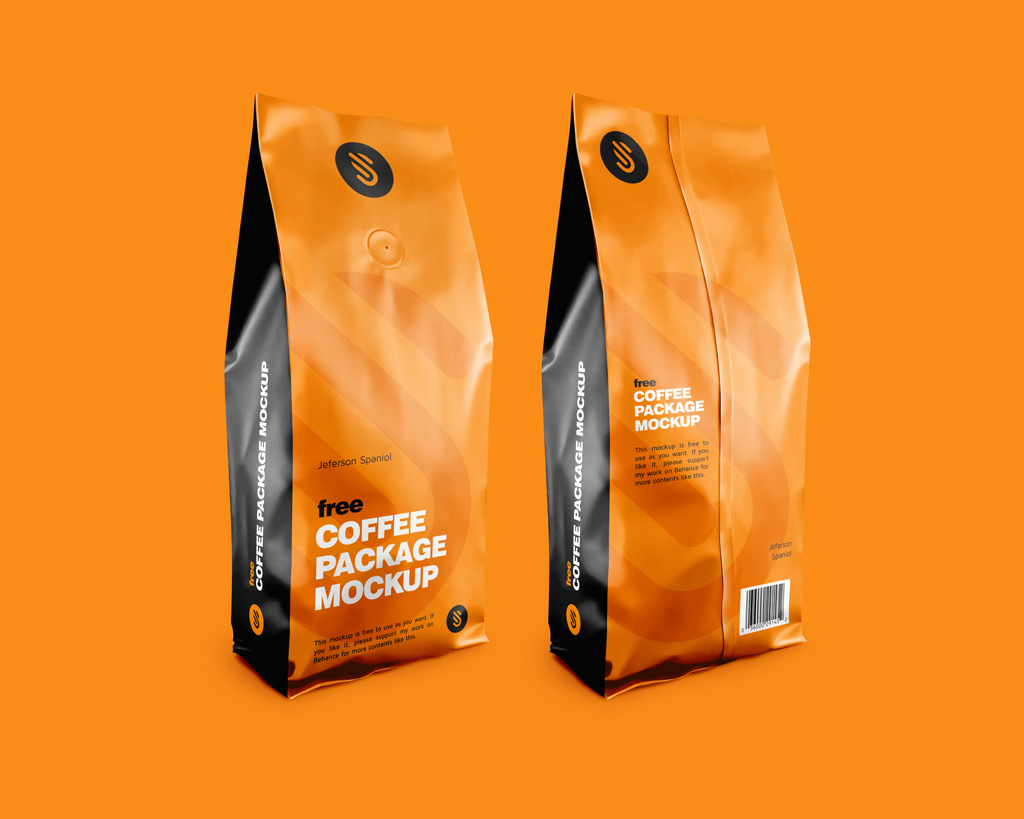 Message spread ideal on the package be it through the photo of a cuppa or a coffee bean. Coffee Package Mockups Mockup World