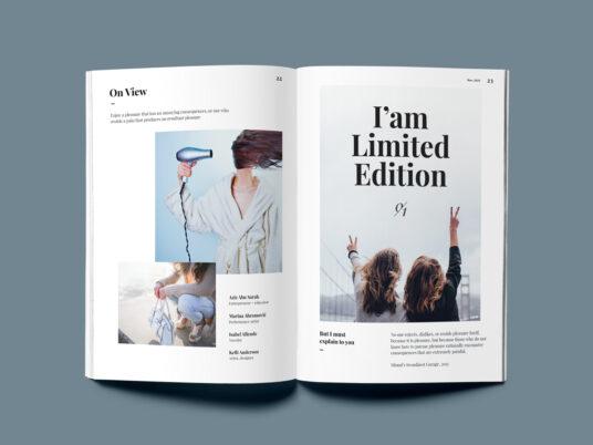 Fully customizable, high quality online mockup and animation templates. A5 Magazine Mockup Set Mockup World