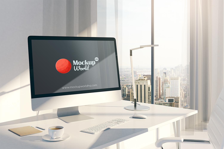 Desktop Imac Screen Mockup Free Mockup World Hq